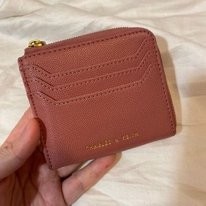 Charles and Keith card holder mink wallet